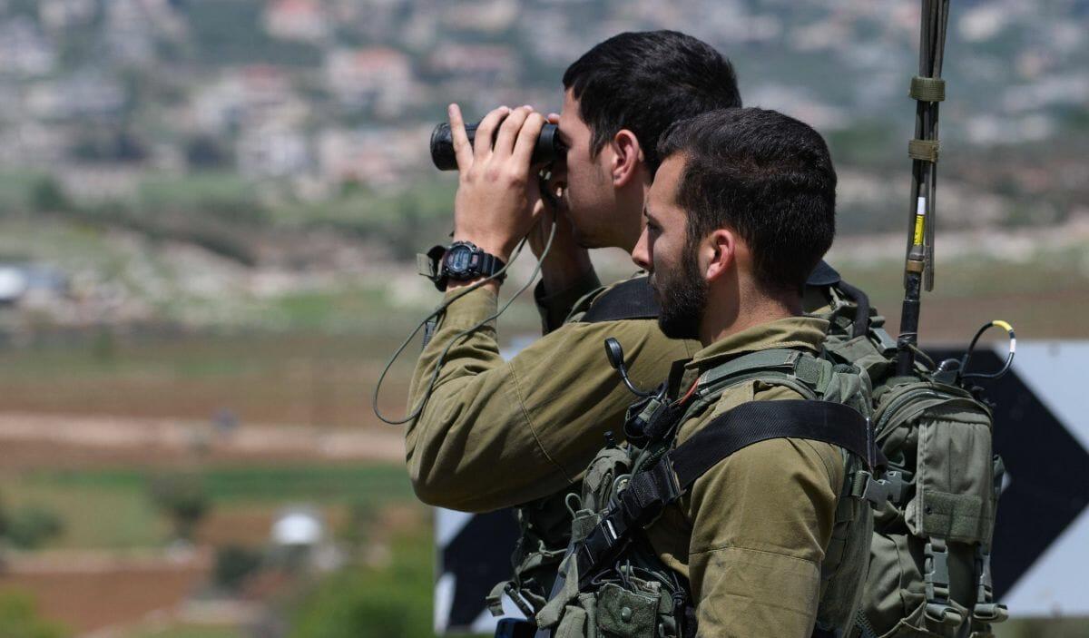 Israelische Soldaten an der Grenze zum Libanon