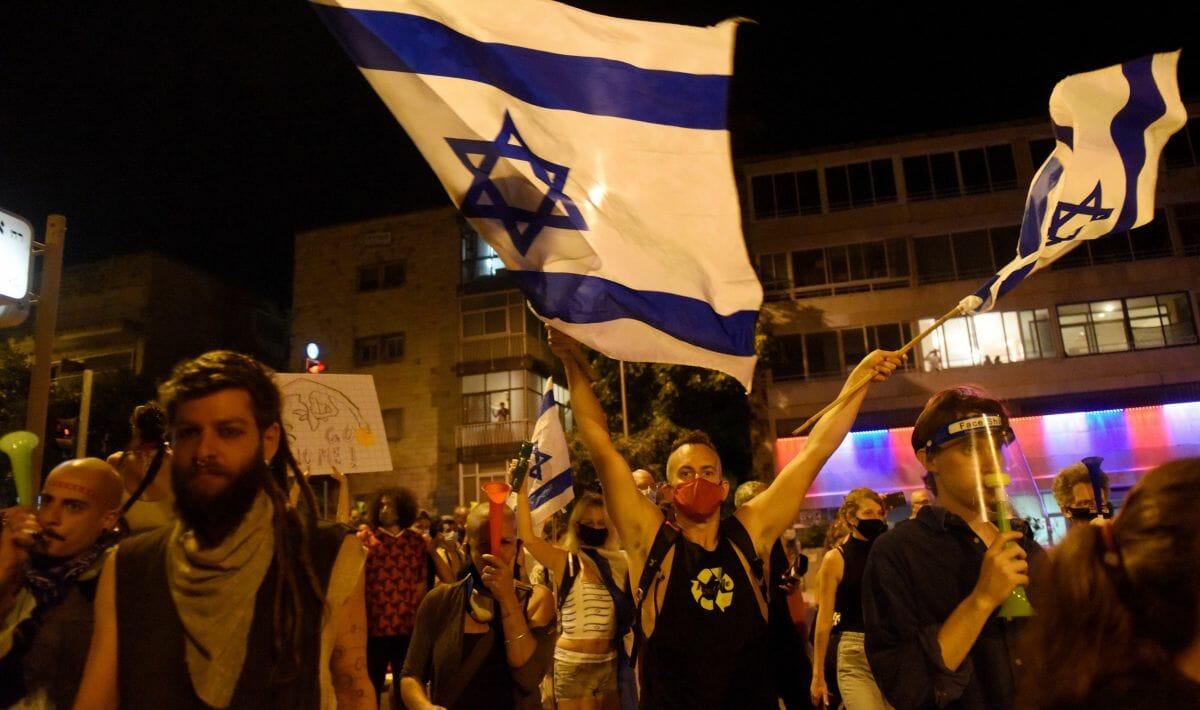 Vergangenen Samstag kam es zu Demonstrationen vor Netanjahus Amtssitz