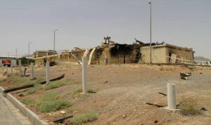 Das durch eine Explosion beschädigte Gebäude in der iranischen Nuklearanlage Natanz