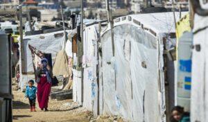Lage für syrische Flüchtlinge in der Bekaa-Ebene im Libanon
