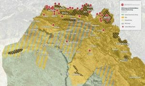 Die von der türkischen Präsindentschaft veröffentlichte Katrte mit 40 Militärstützpunkten im Nordirak