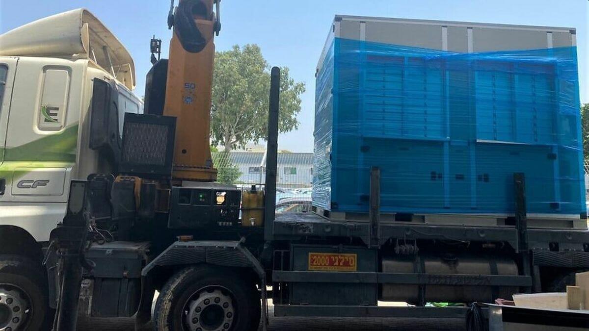 Am sonntag wurde der dritte Watergen-Generator in den Gaza-Streifen geliefert