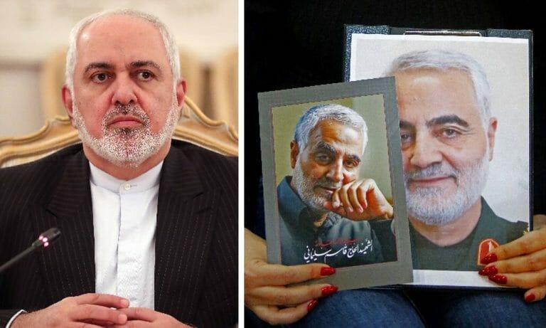 Irans Außenminister Zarif, der von den USA getötete Revolutionsgarden-Kommandeur Soleimani