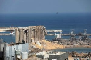 Der Ground Zero im Hafen von Beirut. (imago images/Xinhua)