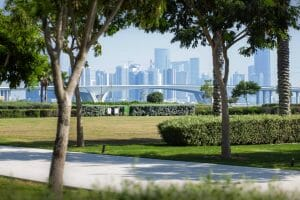 Die Skyline von Abu Dhabi, Hauptstadt der Vereinigten Arabischen Emirate. (imago images/photothek)