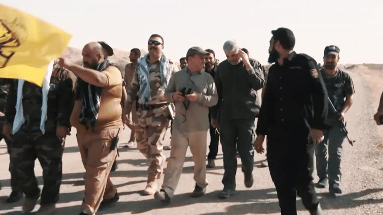 Als er noch unter den Lebenden weilte, besuchte Quds-Brigaden-Führer Qassem Soleimani eine pro-iranische Miliz im Irak. (Dlshad Anwar/VOA)
