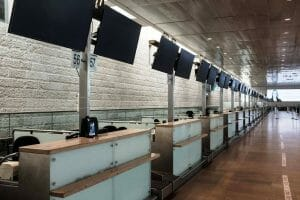 Der Terminal von Israels größtem Flughafen ist seit Monaten weitgehend verwaist. (imago images/ZUMA Wire)