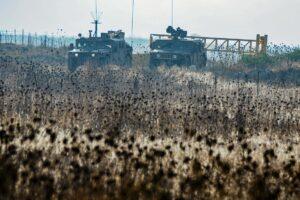 Israels Armee hat im Norden des Landes, wie hier am Golan, ihre Präsenz verstärkt. (imago images/Xinhua)