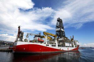 Das Bohrschiff Fatih war größten Erdgasfund der Türkei beteiligt. (imago images/ZUMA Wire)