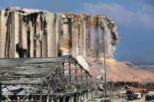 Der Unglücksort im Hafen von Beirut. (imago images/Xinhua)