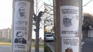 Antisemitische Plakate in der südargentinischen Stadt Neuquen