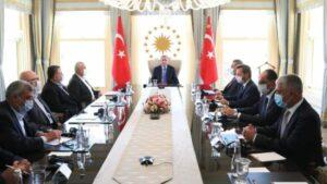 Treffen Erdogans mit Hamas-Führern in Istanbul am 22. August