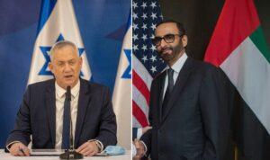 Israels Verteidigungsminister Gantz und sein VAE-Amtskollege al-Bowardi
