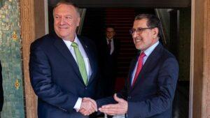 Der marokkanische Premierminister Saad-Eddine el-Othmani mit US-Außenminister Mike Pompeo