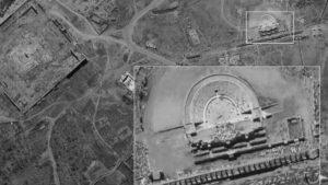 """Bilder des israelischen Spionagesatelliten """"Ofek 16"""" von Palmyra in Syrien"""