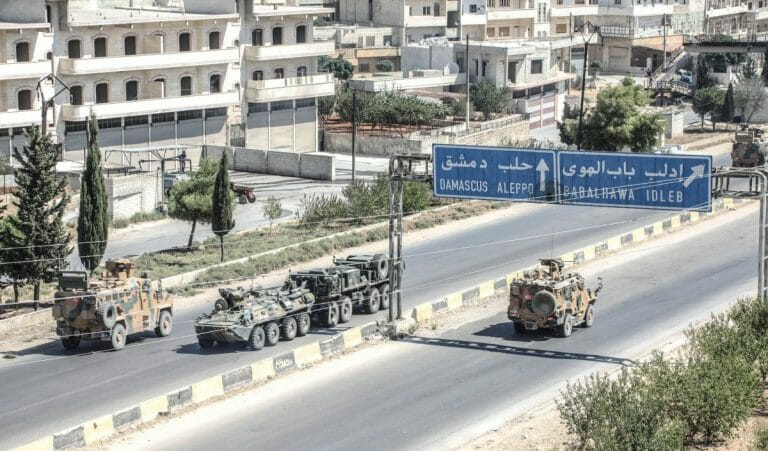 Türkische Militärpatrouille in Nordsyrien