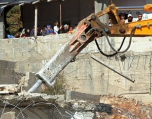 Wenn es um Häuserabrisse geht, trägt die EU anti-israelische Scheuklappen. (imago images/UPI Photo)
