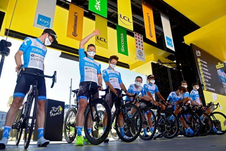 Vorstellung des Teams Israel Start-Up Nation mit André Greipel bei der Tour de France 2020. (imago images/Panoramic International)