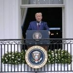 Rede von US-Präsident Trump vor der Unterzeichnung des Abraham-Abkommens. (imago images/MediaPunch)