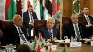 Mahmud Abbas auf einem Treffen der Arabischen Liga