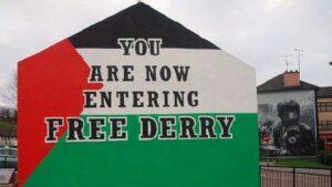 Wandgemälde in der nordirischen Stadt Derry (britisch: Londonderry)
