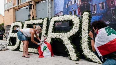 Antiregierungsproteste nach der Explosion in Beirut