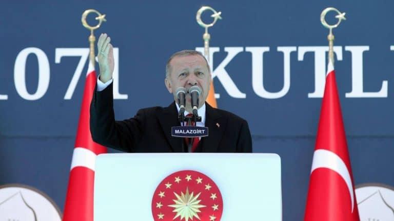 Erdogan bei seiner Ansprache anlässlich der Schlacht von Manzikert (heute: Malazgirt)