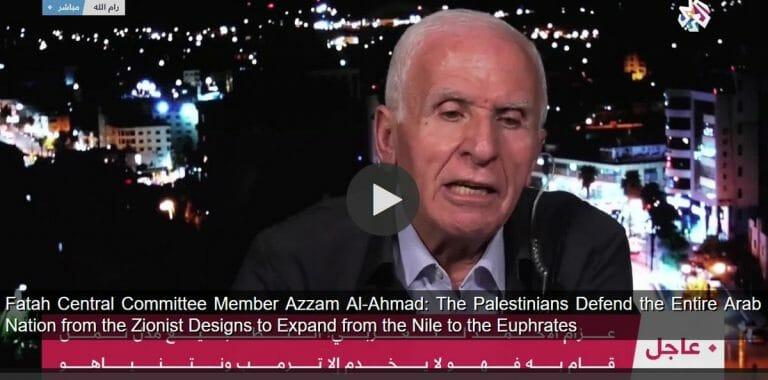 """Will arabische Welt vor """"großzionistischem Reich"""" verteidigen: Mitglied des Fatah-Zentralausschusses Azzam Al-Ahmad"""