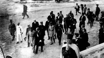 Der französische Hochkommissar für Syrien und den Libanon Henry de Jouvenel besucht 1925 Beirut