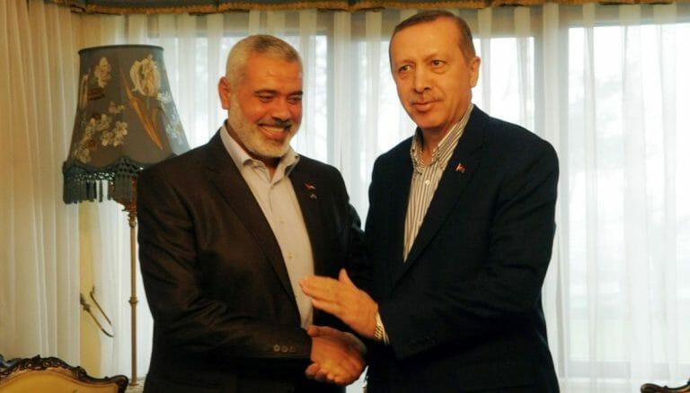 Hamas-Führer Haniyeh und der türkische Präsident Erdogan