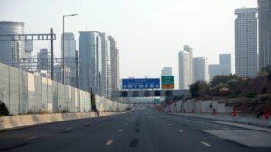 Leere Straßen in Tel Aviv während des am Freitag in Kraft getretenen landesweiten Lockdown in Israel