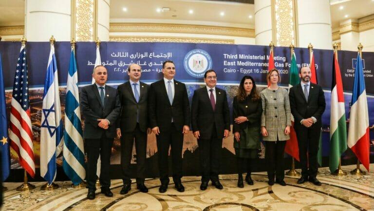 Teilnehmer des East Mediterranean Gas Forum im Januar 2020
