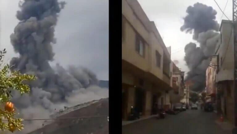Handy-Aufnahmen der Explosion im Südlibanon