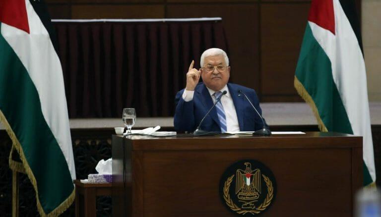 Der Präsident der Palästinensischen Autonomiebehörde Mahmud Abbas