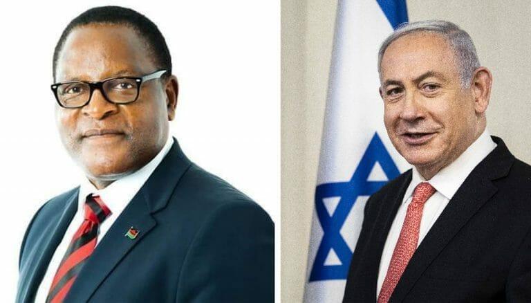 Malawis Präsident Chakwera und Israels Premier Netanjahu