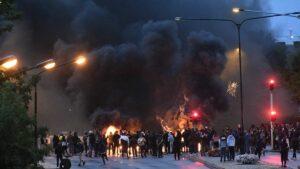 Bei der Demonstration in Malmö kam es zu Ausschreitungen und antisemitischen Sprechchören