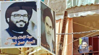 Hisbollah-Chef Nasrallah und Irans Revolutionsführer Khomein