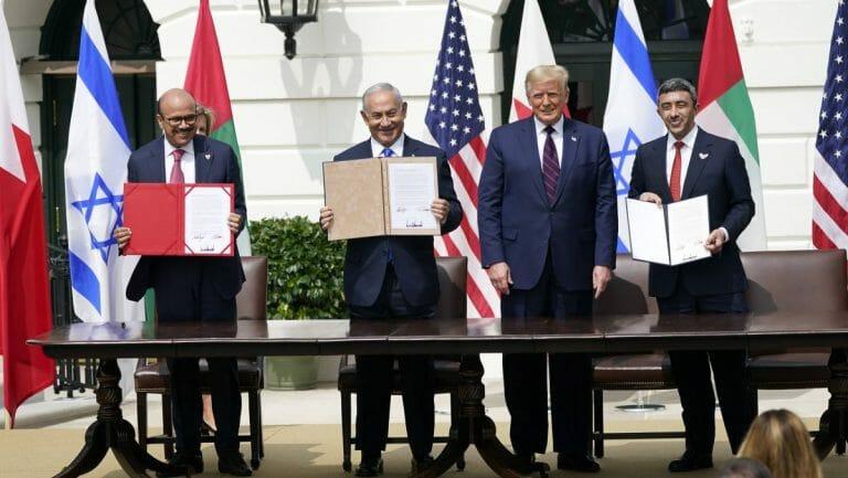 Unterzeichnung des Friedensabkommens zwischen Israel, den Vereinigten Arabischen Emiraten und Bahrain