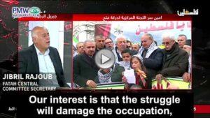 Der Sekretär des Fatah-Zentralkomitees Jibril Rajoub