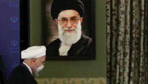 Präsident Rohani und der Oberste Führer Khamenei