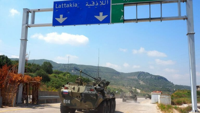 Russische Militärpatrouille in Syrien