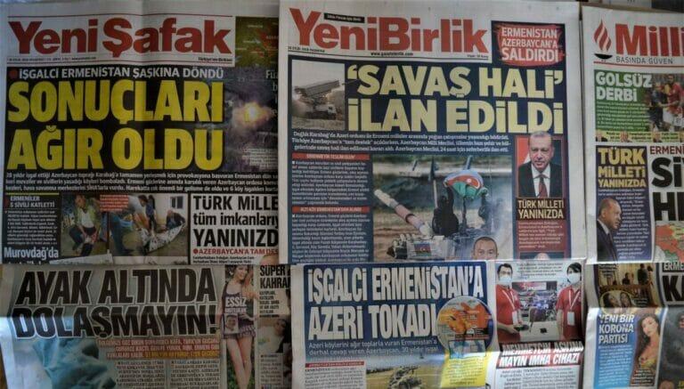 Regierungsnahe Medien berichten über das Wiederaufflammen der Kämpfe zwischen Armenien und Aserbaidschan