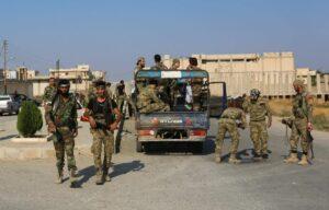 Mit der Türkei verbündete Milizionäre der Syrischen Nationalen Armee