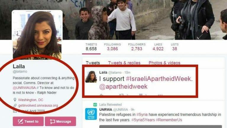 Die Kommunikationsdirektorin des U.S.-Büros des Hilfswerks der Vereinten Nationen für Palästina (UNRWA) Laila Mokhiber