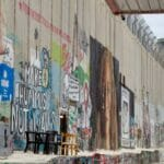 Aus Mauer bestehender Teil der Trennanlage ziwschen Israel und der Palästinensischen Autonomiebehörde