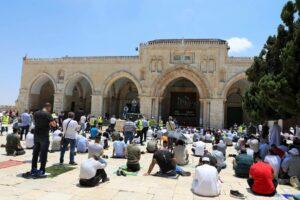 """Die al-Aqsa-Moschee in Jerusalem - angeblich """"geschändet"""" von Besuchern aus den Vereinigten Arabischen Emiraten. (© imago images/ZUMA Wire)"""