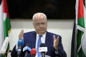 Berufslügner: Saeb Erekat. (© imago images/Xinhua)