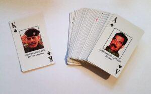 """Al-Douri, der """"Kreuzkönig"""" des Kartenspiels, mit dem die US-Armee im Irak nach Spitzen des Regimes suchte. (Foto: Florian Markl)"""