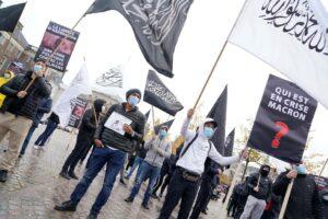 Kundgebung von Islamisten der Gruppe Hizb ut-Tahrir in Kopenhagen am 30. Oktober 2020. (© imago images/Ritzau Scanpix)