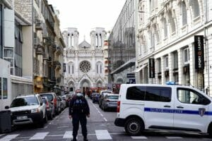 Schauplatz des Anschlags: die Kirche Notre-Dame in Nizza. (© imago images/PanoramiC)